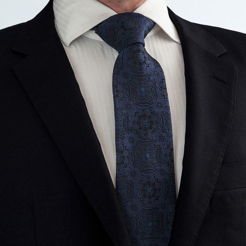 Μπλε Μεταξωτή Γραβάτα
