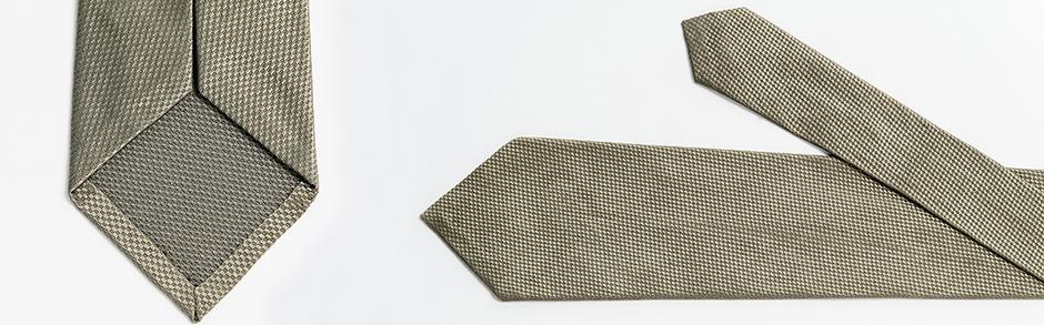 Panalafri ultra light weight silk tie hand sewn sartorial tailor made neckties khaki sand colour