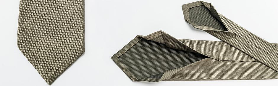 Panalafri ultra light weight luxury silk neckties khaki sand color luxury hand made