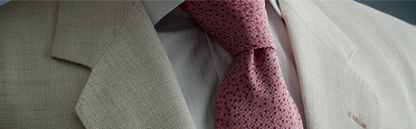 White jacket pink tie shop online store price of 7fold seven fold