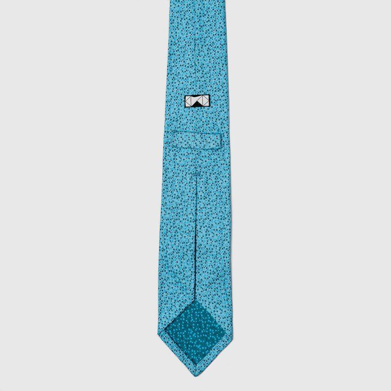 Turquoise Spot Silk Tie