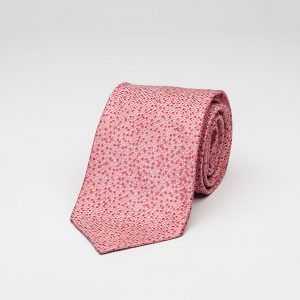 pink coral polka dot limited edition luxury handmade silk seven fold ties without interlining online shop ροζ κοραλλί γραβάτα πολυτελή για τον γαμπρό γάμο