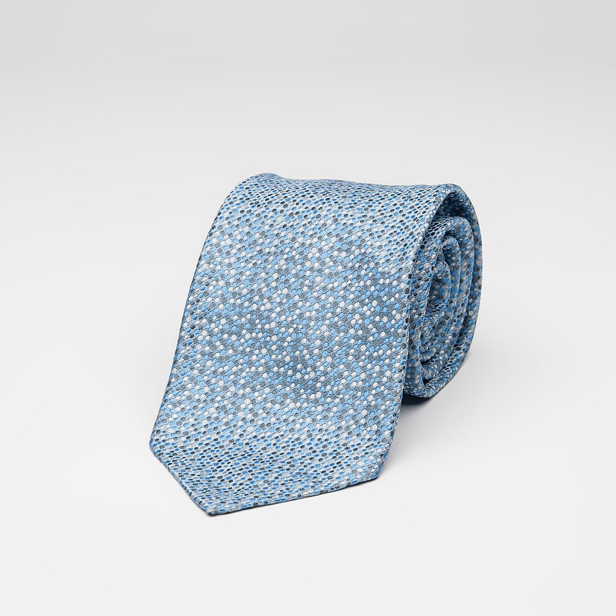 Γαλάζια Πουά Μεταξωτή Γραβάτα