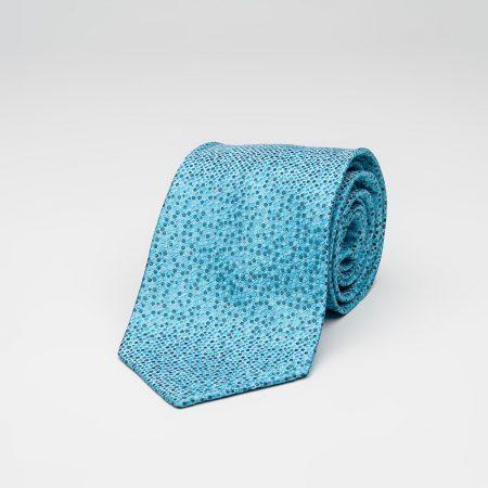 Τουρκουάζ Πουά Μεταξωτή Γραβάτα