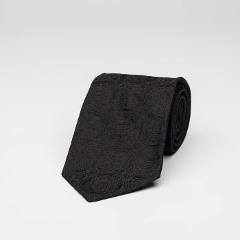 Black Medallion Silk Tie