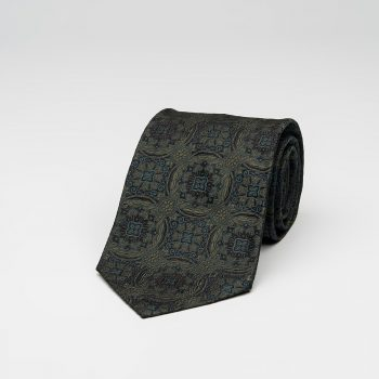 Green Medallion Silk Tie