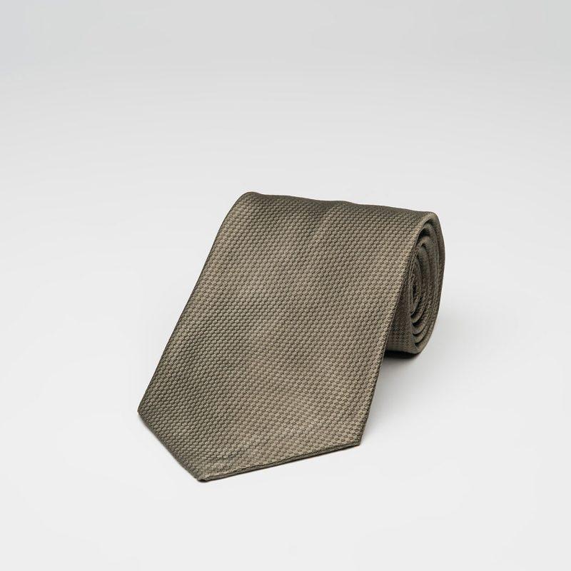Solid Khaki Silk Tie