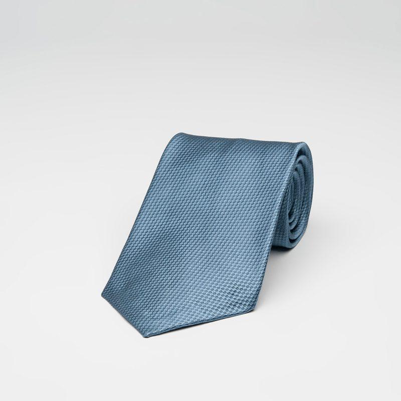 Μονόχρωμη Μπλε Μεταξωτή Γραβάτα