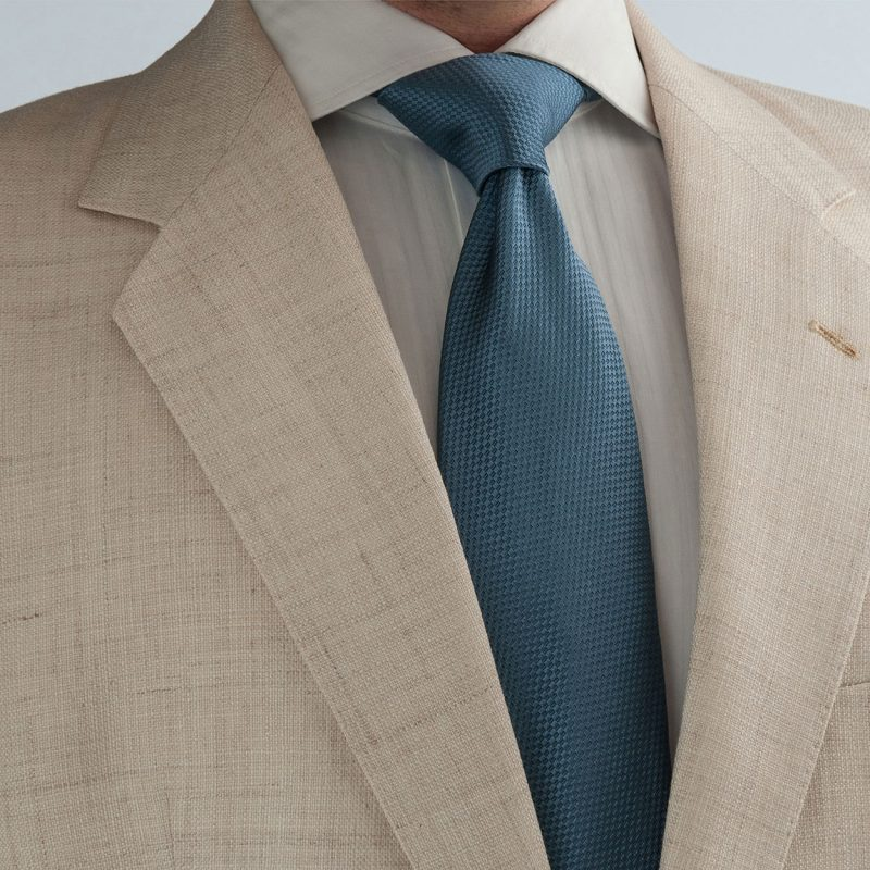 Solid Blue Silk Tie