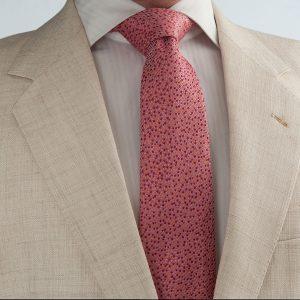 pink coral polka dot limited edition luxury handmade silk seven fold ties without interlining online shop ροζ κοραλλί γραβάτα πολυτελή για τον γαμπρό γάμο