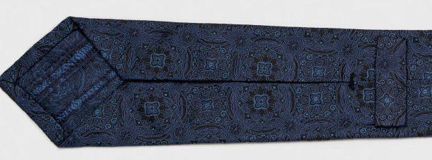 Blue Gala Luxury limited edition handmade lightweight necktie groom best man wedding tie