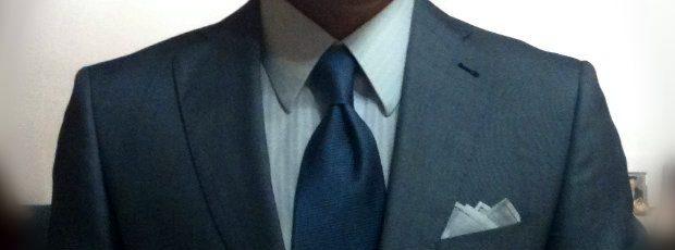 grey suit luxury eight fold necktie blue white hankie handkerchief pochette pocket square handmade limited edition