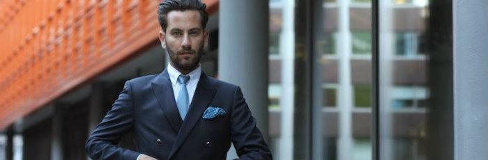 double breast suit blue silk luxury necktie γραβατα χειροποιητη μεταξωτη μπλε θαλασσι γαμου γαμπρος κομψος κουστουμι γάμος