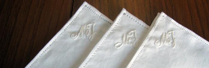 white linen hankies pochette pocket square λευκά λινά μαντίλια ελληνικά