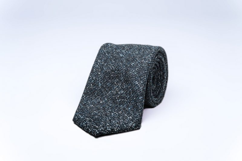 Grey Tweed Wool Tie