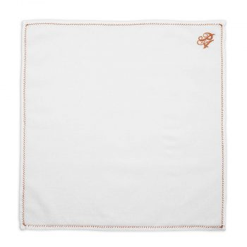 Personalized Copper Thread Cotton Pocket Square