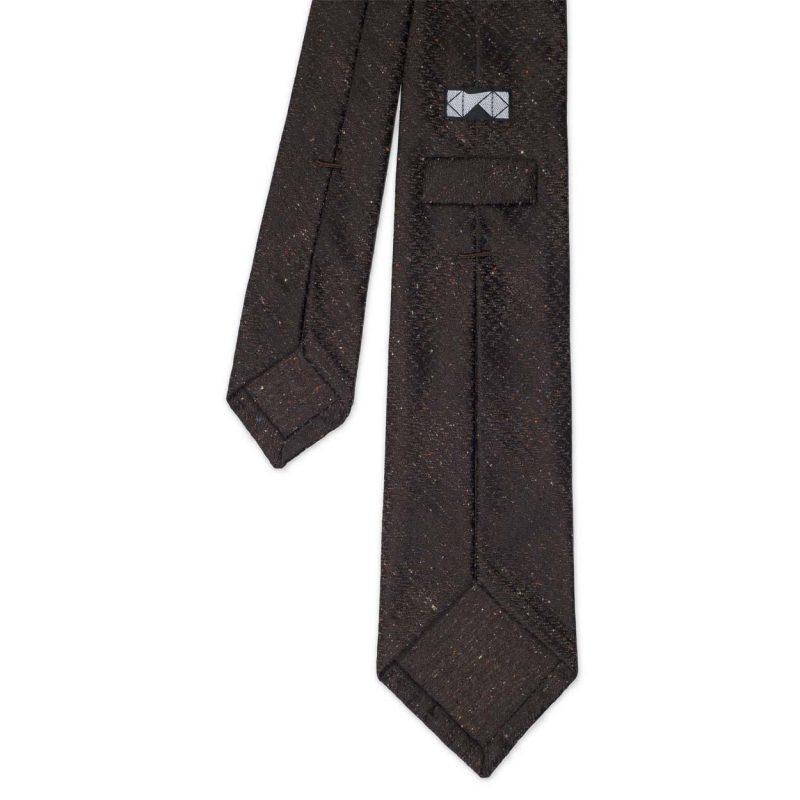 Brown Tweed Silk Tie
