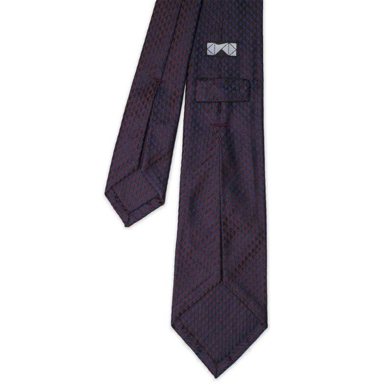 Burgundy Jacquard Silk Tie