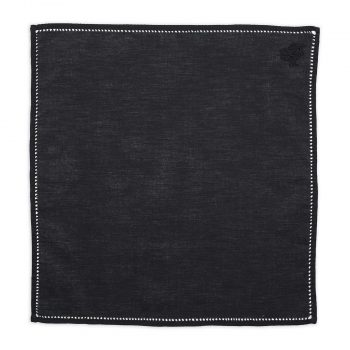 Personalised Black Cotton Pocket Square