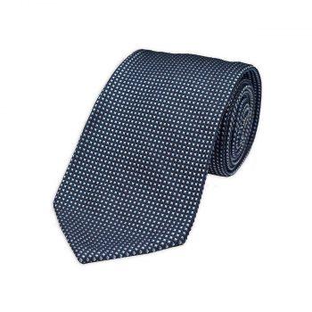 Blue Jacquard Silk Tie