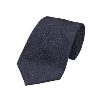 Blue Tweed Silk Tie