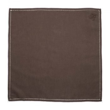 Personalised Brown Cotton Pocket Square