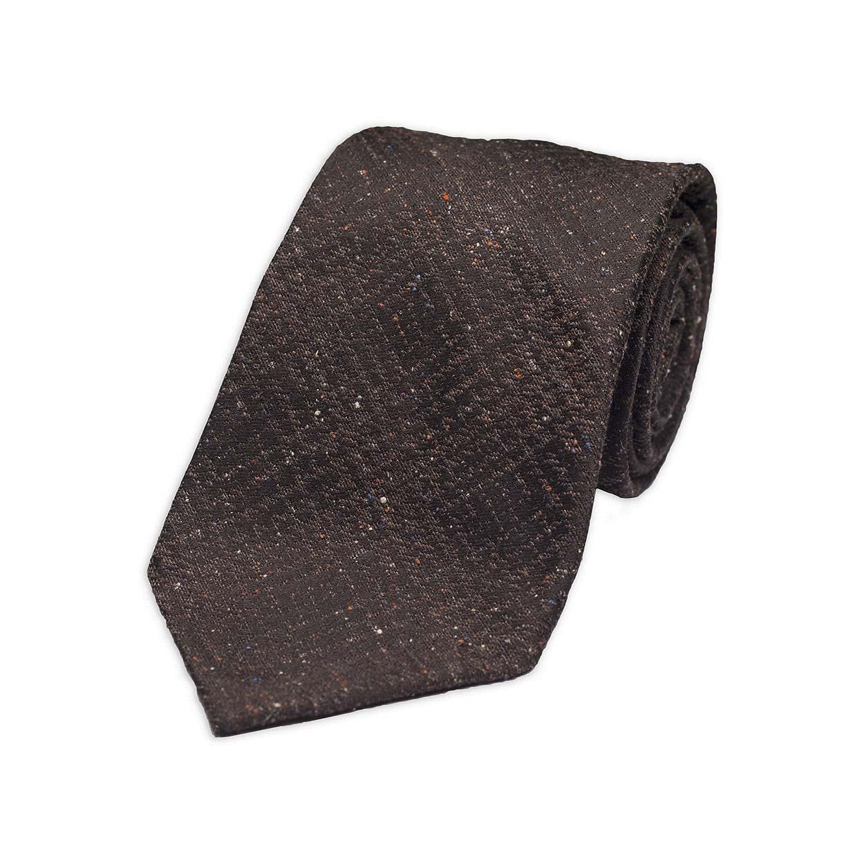 Καφέ Τουΐντ Μεταξωτή Γραβάτα