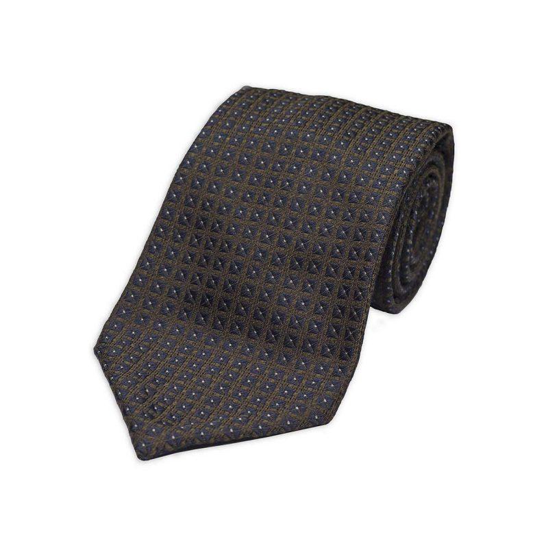 Πράσινη Υφαντή Μεταξωτή Γραβάτα