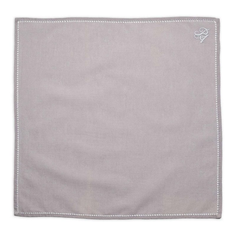 Personalised Grey Cotton Pocket Square