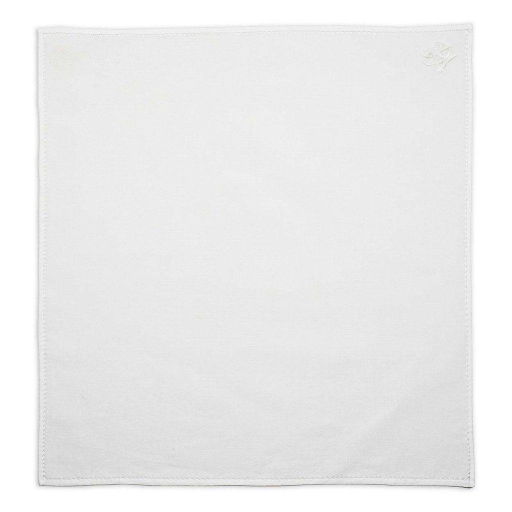 Personalised White Cotton Pocket Square