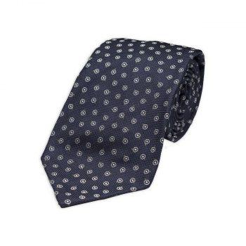Blue Spot Jacquard Silk Tie