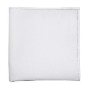 white cotton pocket squares