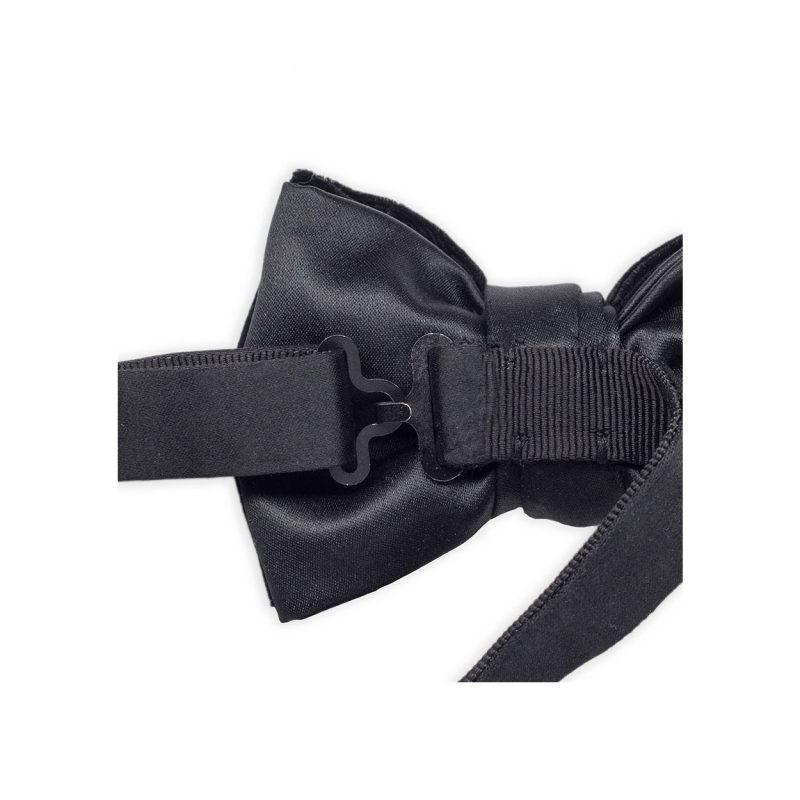 Black Silk Velvet Bow Tie