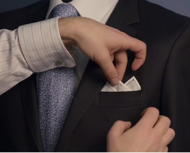 How to fold a pocket square 2