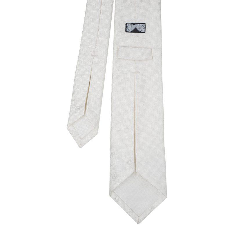 White Silk Wedding Tie