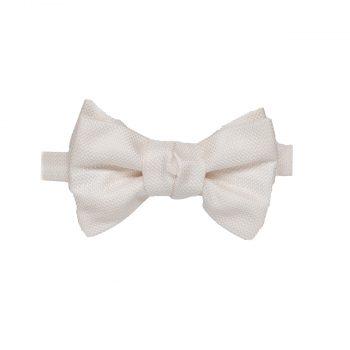 cream bow tie