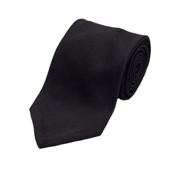 Black Grosgrain Tie