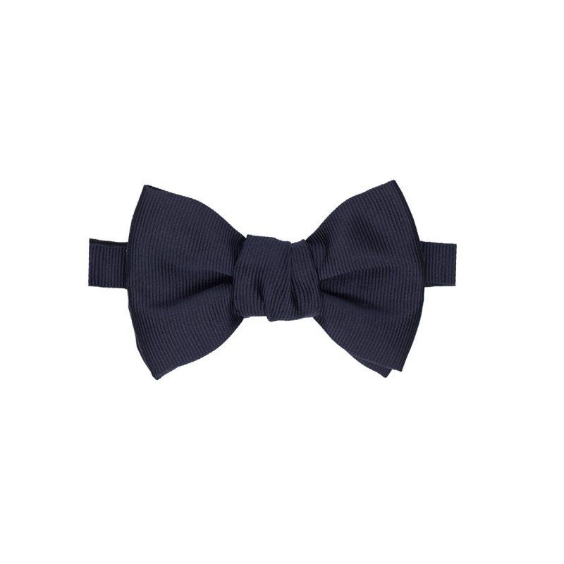 Blue Grosgrain Bow Tie