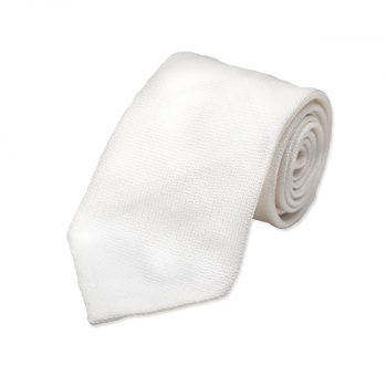 White Silk Wedding Tie