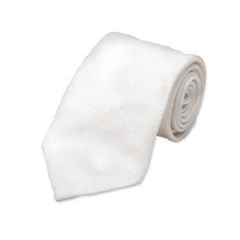 white silk tie
