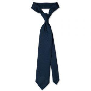 Blue Garza Grossa Grenadine Silk Tie ολόκληρη