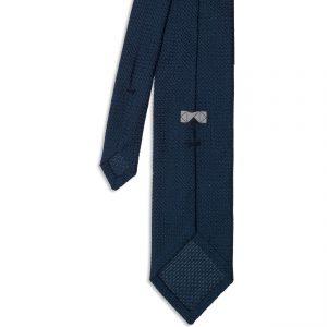 Blue Garza Grossa Grenadine Silk Tie πίσω