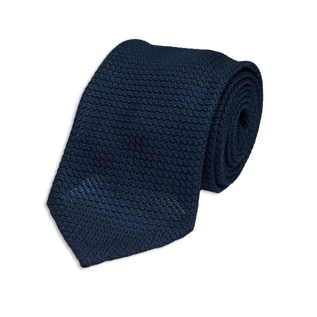 Blue Grenadine Silk Tie