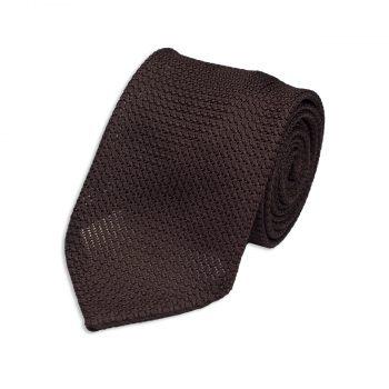 Brown Garza Grossa Silk Tie