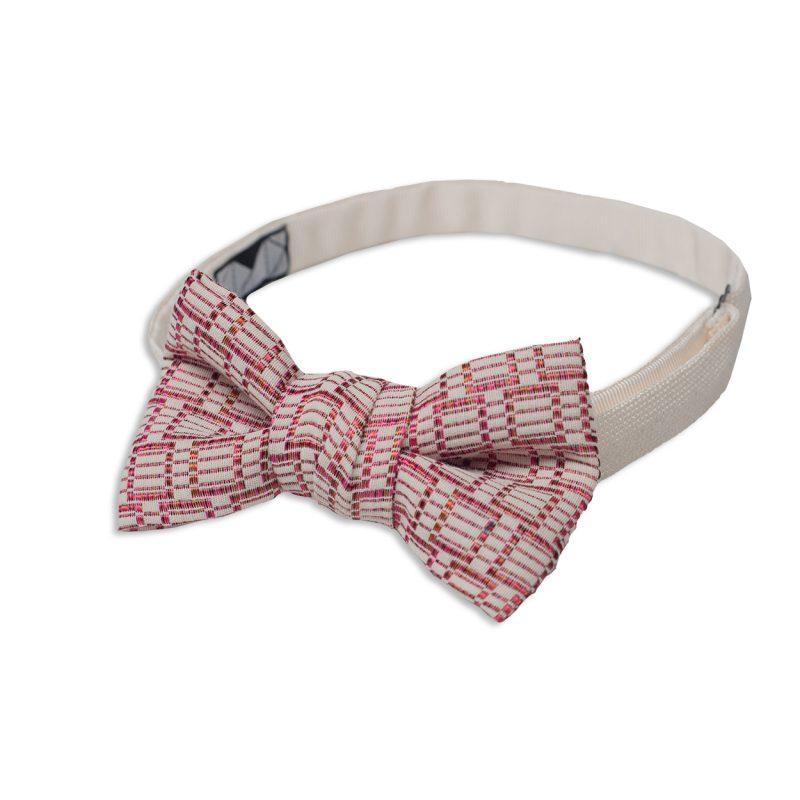 Red Motif Silk Bow Tie