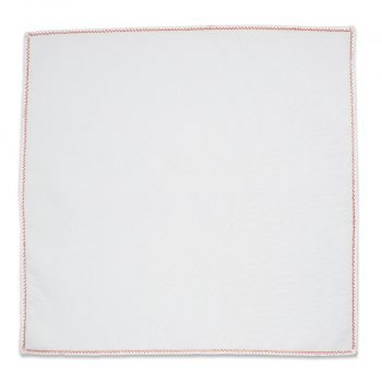 Embroidered Copper Thread Cotton Pocket Square