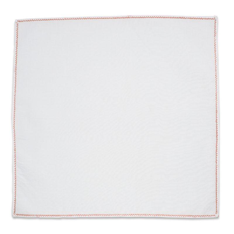 Λευκό Μαντήλι Σακακιού με Χάλκινο Αζούρ