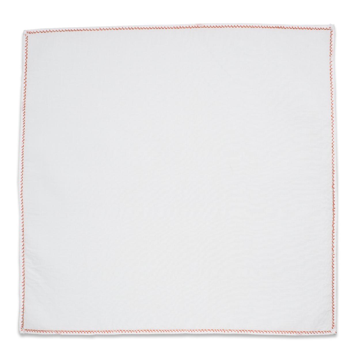 Λευκό Μαντήλι Κουστουμιού με Χάλκινο Αζούρ