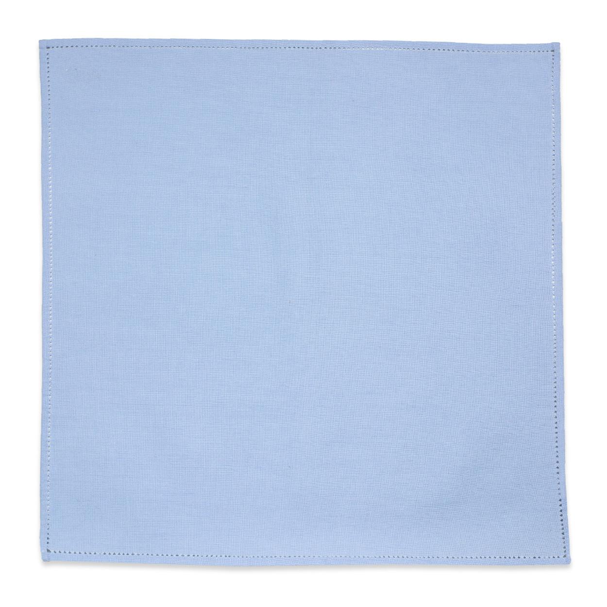 Μπλε Λινό Μαντήλι Κουστουμιού με Αζούρ