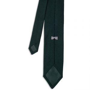 Green Garza Fina Grenadine Silk Tie πίσω